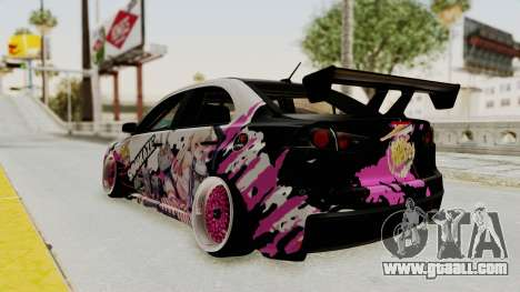 Mitsubishi Lancer Evo X Shimakaze Kai Itasha for GTA San Andreas back left view