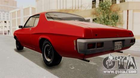 Holden Monaro GTS 1971 SA Plate HQLM for GTA San Andreas right view