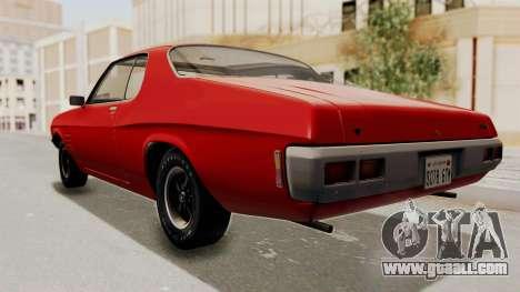 Holden Monaro GTS 1971 SA Plate HQLM for GTA San Andreas right view
