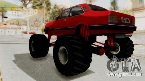 Chevrolet Chevette SL 1988 Monster Truck for GTA San Andreas right view