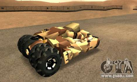 Army Tumbler Rocket Launcher from TDKR for GTA San Andreas engine