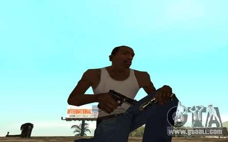 Golden weapon pack for GTA San Andreas third screenshot