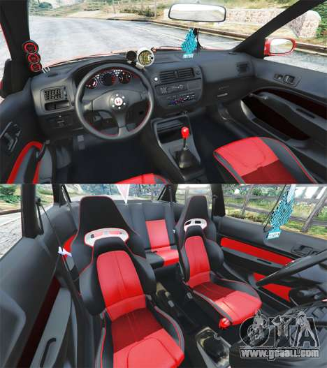GTA 5 Honda Civic rear right side view