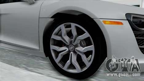Audi R8 V10 2010 for GTA San Andreas back view