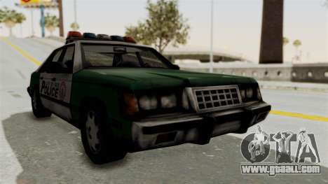 GTA VC Police Car for GTA San Andreas back left view