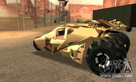 Army Tumbler Rocket Launcher from TDKR for GTA San Andreas bottom view