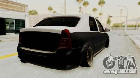 Dacia Logan Facelift Stance for GTA San Andreas left view