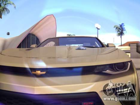 Chevrolet Camaro SS 2016 for GTA San Andreas back view