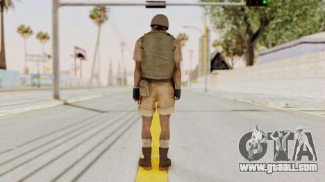 MGSV Phantom Pain CFA Vest v1 for GTA San Andreas third screenshot