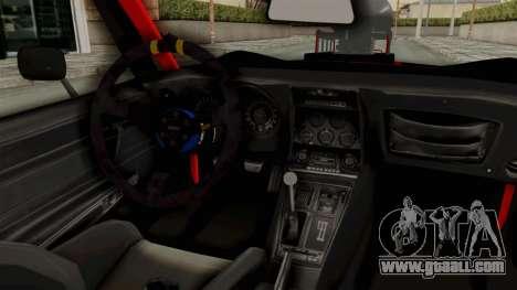 Chevrolet Corvette Stingray C3 1968 Drag for GTA San Andreas inner view
