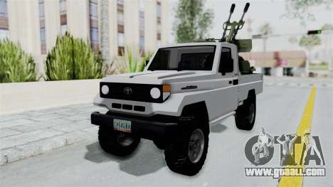 Toyota Land Cruiser Libyan Army for GTA San Andreas right view
