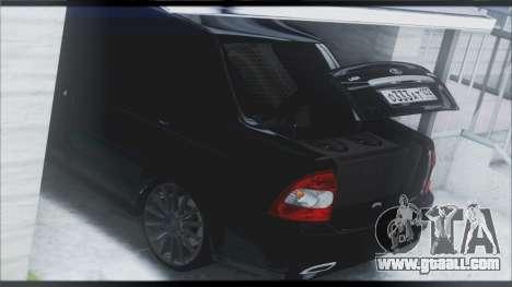Lada Priora Sedan for GTA San Andreas interior