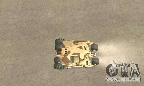 Army Tumbler Rocket Launcher from TDKR for GTA San Andreas wheels