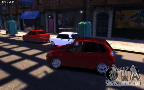 Lada Kalina 2 for GTA 4 right view
