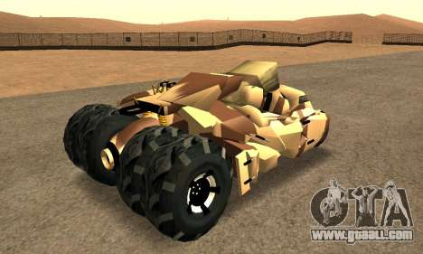Army Tumbler Rocket Launcher from TDKR for GTA San Andreas back left view