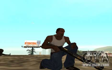 Golden weapon pack for GTA San Andreas forth screenshot