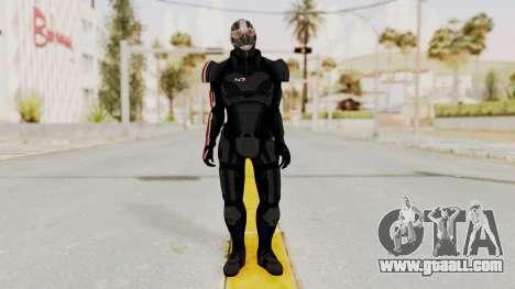 ME2 Shepard Default N7 Armor Recoon Hood Helmet for GTA San Andreas second screenshot
