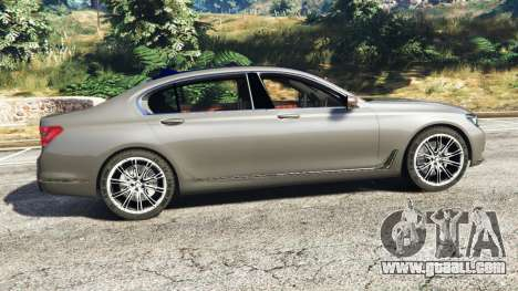 GTA 5 BMW 750Li xDrive (G12) 2016 left side view