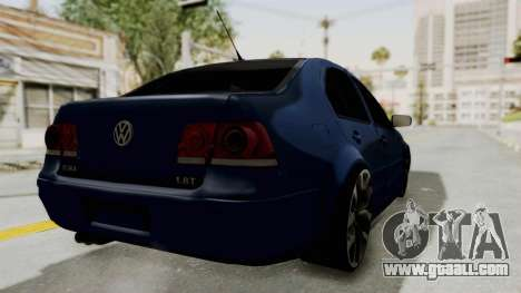 Volkswagen Bora 1.8T for GTA San Andreas back left view