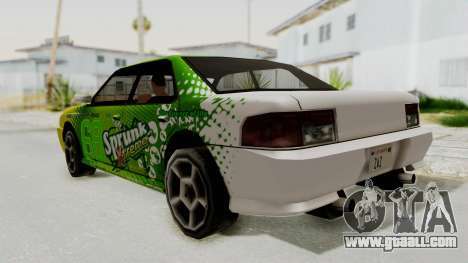 Sprunk Sultan for GTA San Andreas left view