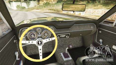 GTA 5 Ford Mustang 1968 back view