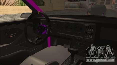 Pontiac Firebird 1982 Trans Am Drag for GTA San Andreas inner view
