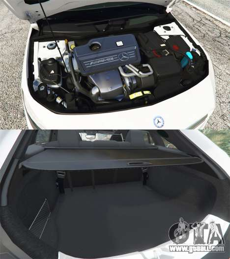 GTA 5 Mercedes-Benz CLA 45 AMG [HSR Wheels] right side view