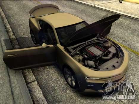 Chevrolet Camaro SS 2016 for GTA San Andreas inner view