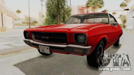 Holden Monaro GTS 1971 SA Plate HQLM for GTA San Andreas