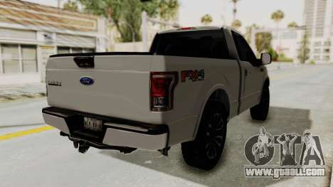 Ford Lobo XLT 2015 Single Cab for GTA San Andreas back left view