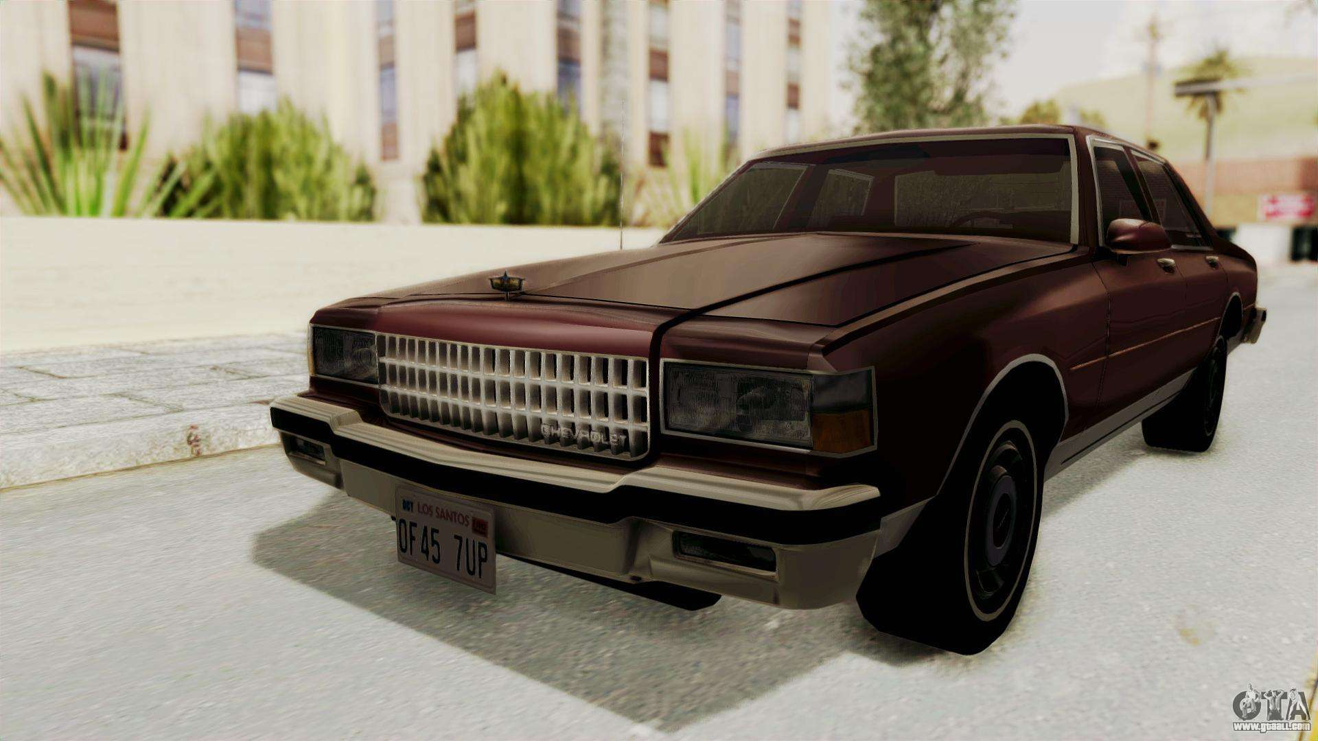 Chevrolet Caprice 1987 V1 0 For Gta San Andreas