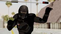Mass Effect 2 Shepard Default N7 Armor Helmet for GTA San Andreas
