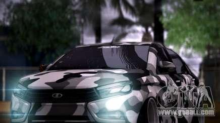 Lada Vesta Camouflage for GTA San Andreas
