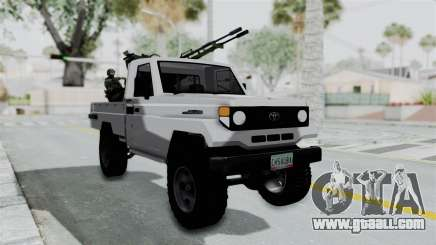 Toyota Land Cruiser Libyan Army for GTA San Andreas