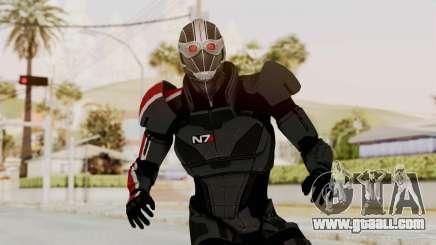 ME2 Shepard Default N7 Armor Recoon Hood Helmet for GTA San Andreas