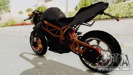 Kawasaki ER 6N Superbike for GTA San Andreas left view