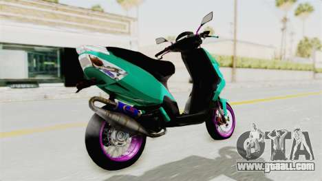 Piaggio 200 CC Lockstyle for GTA San Andreas left view
