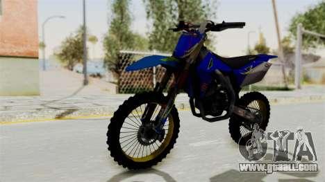 Suzuki RMZ 450 Gendarmerie v0.1 for GTA San Andreas right view