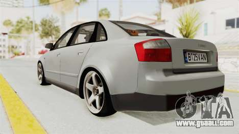 Audi A4 2002 Stock for GTA San Andreas right view