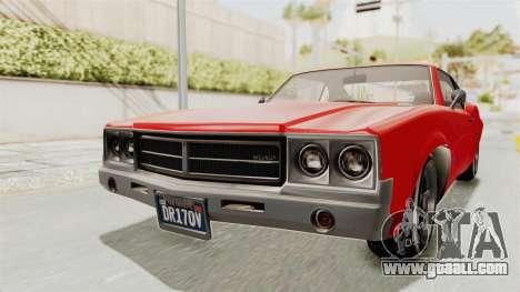 GTA 5 Declasse Sabre GT2 IVF for GTA San Andreas right view