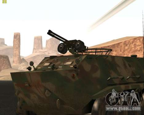 BTR 60 PA for GTA San Andreas back left view