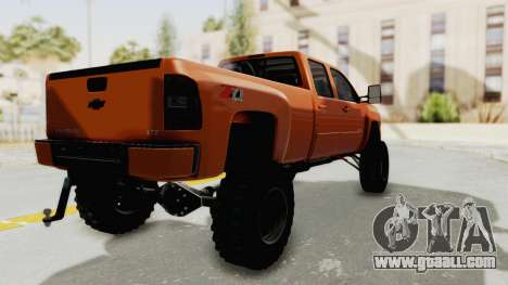 Chevrolet Silverado Long Bed for GTA San Andreas back left view