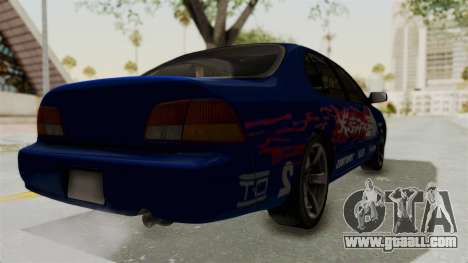 Nissan Maxima SE 1997 Fast N Furious for GTA San Andreas back left view