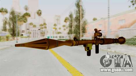 Rocket Launcher Gold for GTA San Andreas second screenshot