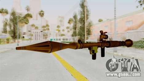 Rocket Launcher Gold for GTA San Andreas second screenshot