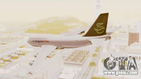 Boeing 747-400 Malaysia Airlines Tabung Haji for GTA San Andreas left view