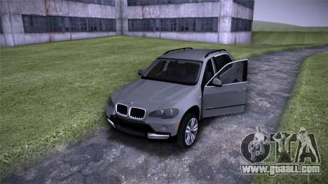 BMW X5 E70 for GTA San Andreas inner view