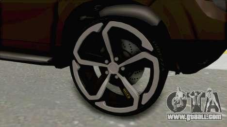 Dacia Duster 2010 Tuning for GTA San Andreas back view