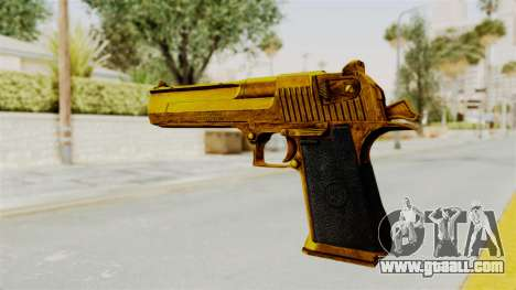 Desert Eagle Gold for GTA San Andreas third screenshot