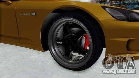 Honda S2000 S2K-AP1 for GTA San Andreas back view